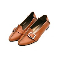 Women's Spring / Summer / Fall / Winter Comfort Leatherette Casual / Dress Flat Heel Buckle Black / Brown