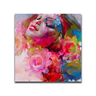 IARTS®Beautiful Floral Girl Handmade Oil Painting Stretched Painting Decorated Your Daughter House as Princess style
