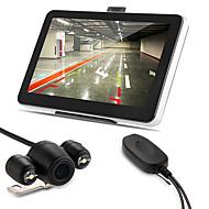 coche 7 gps de navegación AV-IN bluetooth 4gb + Mapa + cámara de marcha atrás inalámbrica