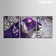 Animal / Fantasía Impresión de la lona Tres Paneles Listo para colgar , Vertical