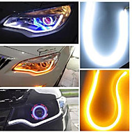 2pcs 10W 3014 SMD LED Tagfahrlicht Abbiege-Lampe Lichtleiste DRL weiß + amber 45cm
