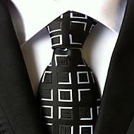 Men Wedding Cocktail Necktie At Work Black White Tie