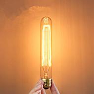 e27 40w ampoules à incandescence de type tube créative soie ampoules classiques d'enroulement