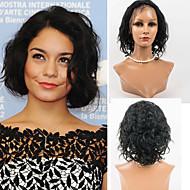 El pelo del frente del cordón 12inch pelucas 100% estilo ondulado frente del cordón del pelo humano mongol pelucas de cabello virgen del