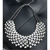 Women's European Style Fashion Metal Shining Rhinestone Necklace