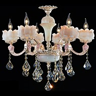 European Style Zinc Alloy Crystal Pendant lamps And Natural Jade