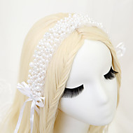 Women's / Flower Girl's Imitation Pearl / Polyester Headpiece - Wedding / Special Occasion Headbands 1 Piece