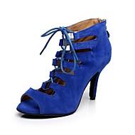 Scarpe da ballo - Non personalizzabile - Donna - Latinoamericano - Stiletto - Pelle / Stampa/Trama - Blu / Rosso
