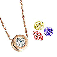 Women's Alloy Necklace Anniversary / Birthday / Gift / Party / Daily / Causal / Office & Career Cubic Zirconia