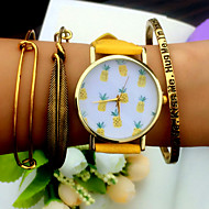 Tropical Fruit Pineapple Watch Vintage Style Leather Bracelet Women Watches Cool Watches Unique Watches Fashion Watch