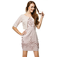 TS Couture Cocktail Party Dress - Pearl Pink Sheath/Column Straps Short/Mini Charmeuse