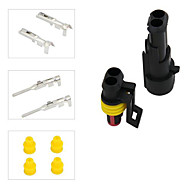 5 Kit 2 Pins Waterproof Electrical Wire Connector Plug