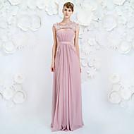 저녁 정장파티 드레스 - 라벤더 A라인 바닥 길이 보석 쉬폰