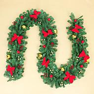 Navidad de mimbre decoración escena de Navidad suministros bowknot decora