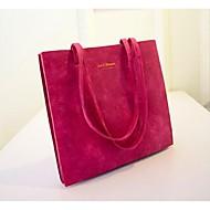 Women PU Shopper Shoulder Bag - Pink / Purple / Blue / Black
