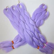 "24 ""80g hellmauve Lavendel kanekalon senegalese Wendungen Xpression synthetischen Jumbo-Geflecht Feld Haar"