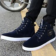 Syntetika-Pohodlné Kovbojské Jezdecké boty Módní boty-Pánské-Černá Modrá-Outdoor Běžné Atletika Work & Safety-Plochá podrážka