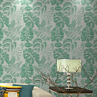 New Rainbow™Trees/Leaves Wallpaper Contemporary Wall Covering , Non-woven Paper Large Leaves Wallpaper