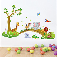 Tiere Cartoon Design Stillleben Wand-Sticker Flugzeug-Wand Sticker Dekorative Wand Sticker,Vinyl Stoff Abziehbar Haus Dekoration