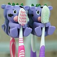 1 kpl eläin muoto roikkuvat hammasharja haltijat (random väri