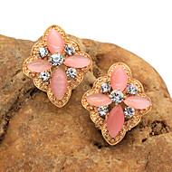 Women's Fashion Floral Rhinestones Earring 1pair