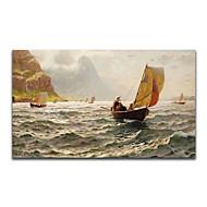 iarts®flying barco en la pintura al óleo hecha a mano mar shiping libre enmarcado pintura