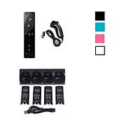 4 x Batterie& Ladestation Dock + Fernbedienung und Nunchuk für Nintendo Wii