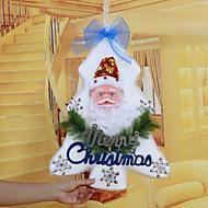 """48 * 34センチメートル/ 19 * 13.4 """"クリスマスツリーフォームサンタクロースドア壁掛けのクリスマスのホテルの家の装飾の教会の窓、天井"""