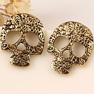 European Style Fashion Retro Wild Personality Skull Earrings