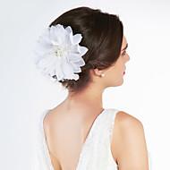 schitterende satijnen / tule met strass huwelijk bruids bloemen / hoofddeksel