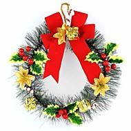 agujas de pino de flores de Navidad de mini pequeña corona de Navidad arco decoraciones de Navidad