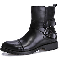 Men's Shoes Office & Career / Party & Evening / Casual Leather Boots Black