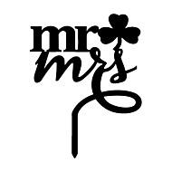 Tortenfiguren & Dekoration Nicht-personalisierte Monogramm AcrylHochzeit / Jubliläum / Brautparty / Quinceañera & Der 16te Geburtstag /
