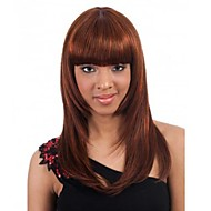 Beautiful Fashion Light Brown Color Middle Long Straight Hair Synthetic Wigs