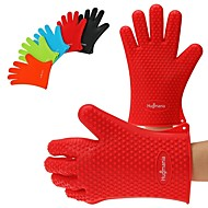 Hugmania- Five-pointed star type Heat Resistant Silicone Gloves Cooking Baking Grilling Oven Waterproof Glove(1PCS)