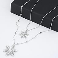 Licht Metaal Dames Kettingen Jublieum / Bruiloft / Verloving / Verjaardag / Geschenk / Feest / Dagelijks Bergkristal