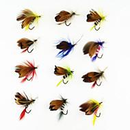 """12 יח ' זבובים / פתיונות דיג זבובים פנטום / מבחר צבעים 1g g/1/18 אונקיה,20 mm/1"""" אינץ ',מתכת דיג בחכה"""