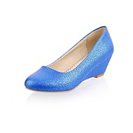 Girls' Shoes Outdoor / Party & Evening / Athletic / Dress / Casual Round Toe Leatherette Heels Blue / Yellow / Pink