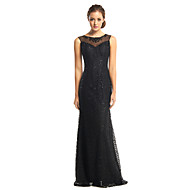 TS Couture® Formal Evening Dress Trumpet / Mermaid Scoop Floor-length Tulle / Sequined with Beading / Sequins