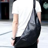 Unisex PU Casual / Outdoor Shoulder Bag Black