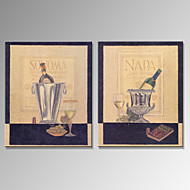 VISUAL STAR®Vintage Champagne Bottle Canvas Prints Home Decoration Wall Art Ready to Hang
