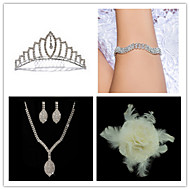 Wedding Suit(Headdress & Necklace & Earrings & Bracelet & Brooch)