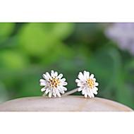 Női Beszúrós fülbevalók jelmez ékszerek Ezüst Flower Shape Százszorszép Ékszerek Kompatibilitás Esküvő Parti Napi