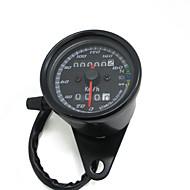 schwarz 12v Motorrad Roller Tacho Kilometerzähler Manometer 0-160km / h Motorrad Hintergrundbeleuchtung Dual-Geschwindigkeitsmesser mit