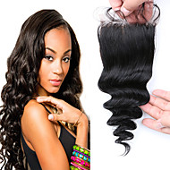 Grade 7A Virgin Malaysian Hair loose Wave Closure Cheap Free Part 3 part Lace Closure Bleached Knots Human Hair