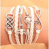 Heren Dames Voor Stel Armbanden met ketting en sluiting Wikkelarmbanden Vintage Armbanden Lederen armbanden Hart Meerlaags Leder Legering