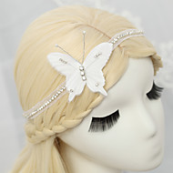 Women's / Flower Girl's Rhinestone / Chiffon Headpiece-Wedding / Special Occasion Headbands 1 Piece White Round