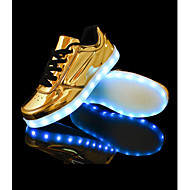 LED Light Up Shoes, Running Shoes 2016 New Arrival Men's Shoes USB Charging Outdoor / Casual PVC / Glitter Fashion Sneakers Silver / Gold