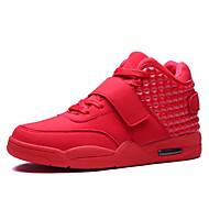 Scarpe da uomo - Sneakers alla moda - Casual - Finta pelle - Nero / Rosso / Bianco