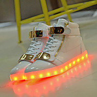 LED Light Up Shoes, Women's Shoes Flat Heel Fashion Boots / Comfort / Round Toe Fashion Sneakers Athletic / Dress / Casual Black / White